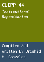 CLIPP 44: Institutional Repositories