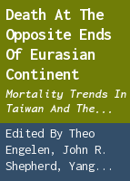 Death at the opposite ends of Eurasian continent: mortality trends in Taiwan and the Netherlands 1850-1945