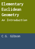 Elementary Euclidean geometry: an introduction