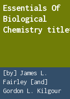 Essentials of biological chemistry