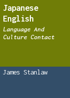 Japanese English: language and culture contact