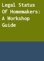 Legal status of homemakers: a workshop guide