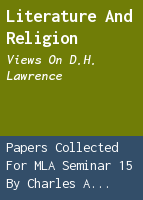 Literature and religion: views on D.H. Lawrence