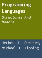 Programming languages: structures and models
