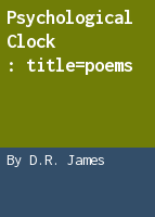 Psychological clock: poems
