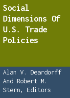 Social Dimensions of U.S. Trade Policies