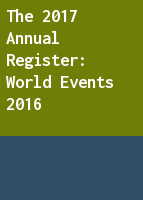 The 2017 Annual Register: World Events 2016