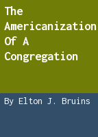 The Americanization of a congregation
