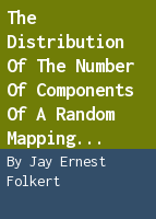 The distribution of the number of components of a random mapping function